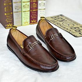 Giày lười nam da bò xuất khẩu kiểu dáng trẻ trung năng động – HD0126