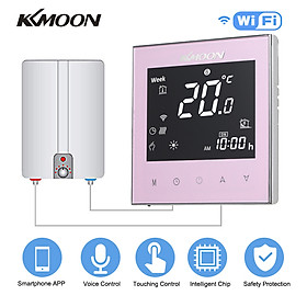 KKmoon Digital Water/Gas Boiler Heating Thermostat with WiFi Connection & Voice Control Energy Saving AC 95-240V 5A