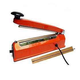 Máy hàn miệng túi đa năng vỏ thép; hàn túi zip, túi nilon, túi lọc trà, đường hàn 200x2mm