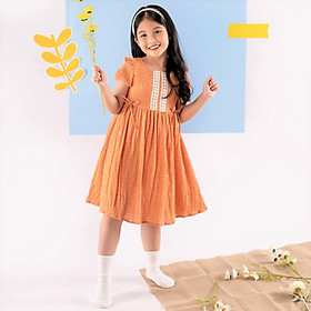 Váy đầm cho bé gái cao cấp Econice V009. Size 5, 6, 7, 8, 10 tuổi mặc mùa hè