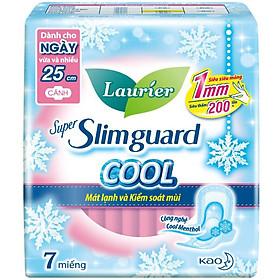 Băng Vệ Sinh Laurier Super Slimguard Cool Mát Lạnh & Kiểm Soát Mùi 25cm - 7 Miếng