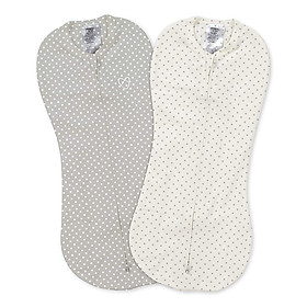 Bộ 2 Túi Quấn Pod - Newborn Summer Infant (Pod - Grey/White Dot - 2Pk)