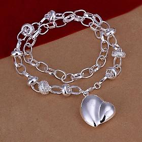 Charm Silver Cube Light Necklace Women Glowing Pendant Jewelry