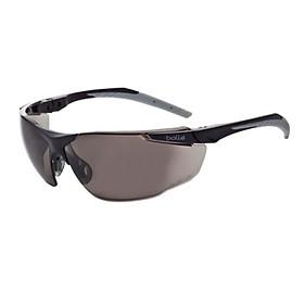 Kính bảo hộ BOLLE 1653602A Universal Safety Smoke Glasses Anti-Scratch/Anti-Fog Len (Tròng Khói. Gọng Đen phối Xám, Chống Trầy Xước, Chống Sương Mù), (tặng kèm hộp đựng kính)