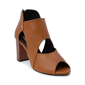 Giày Boot Nữ Cổ Thấp Rosata RO114 - Nâu