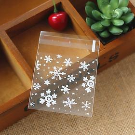 Túi Bóng Đựng Bánh Làm Quà Tặng Giáng Sinh -Trắng (100 Cái)