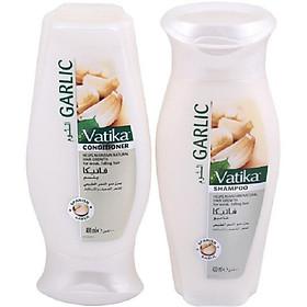 Cặp Dầu gội xả Vatika_Garlic kích thích mọc tóc số 1 toàn cầu 400ml-0