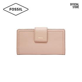 Ví cầm tay nữ khoá tab thời trang Fossil RFID Logan Tab SL7830656 - màu hồng phấn