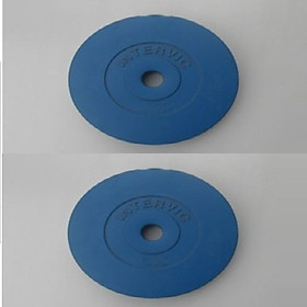 Bộ Tạ Đĩa Bọc Nhựa Intervic 10KG ( 5kg/tạ) - Màu Xanh Dương