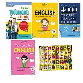 Combo 4 cuốn: Tự học tiếng anh cấp tốc + Tự học nghe nói tiếng anh chuẩn - dễ - nhanh Volume 1+ Tự học tiếng anh chuẩn - dễ - nhanh Volume 2 + 4000 từ vựng thông dụng (tặng 1 giá đỡ iring cute)