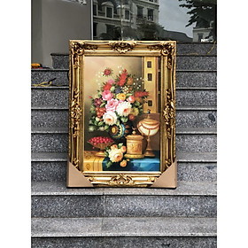 Tranh Sơn Dâu Châu Âu Tranh sơn dầu hoa Tranh Sơn Dầu Nghệ Thuật Tranh Sơn Dầu Được Họa Sĩ Vẽ Tay 100%.