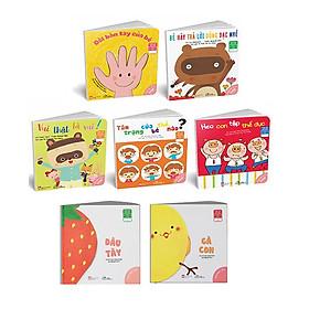 """Combo 07 cuốn  Ehon Nhật Bản """"trò chuyện"""" : Dâu Tây + Gà Con + Ehon kỹ năng sống Nhật Bản cho bé 0 - 6 tuổi"""