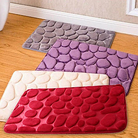 3D Simple Solid Water Absorption Rug Bathroom Mat Shaggy Memory Foam Bath Mat