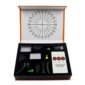 Physical Optical Kit Laboratory Equipment Optical Concave Convex Lens Prism Set Optical Test Box