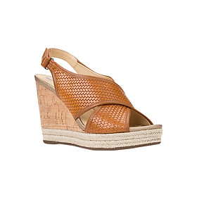 Giày Sandal Đế Xuồng Nữ GEOX D JANIRA C WOV.PR.BUF+SYN.LE CARAMEL/BROWN - Nâu