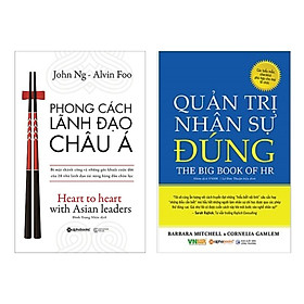 Combo 2 Cuốn Sách Kinh Tế Hay: Phong Cách Lãnh Đạo Châu Á + Quản Trị Nhân Sự Đúng / Sách Tư Duy Kỹ Năng Sống - Quản Trị Nhân Lực (Tặng Kèm Bookmark Happy Life)