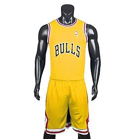 Bộ quần áo bóng rổ Bulls - Vàng