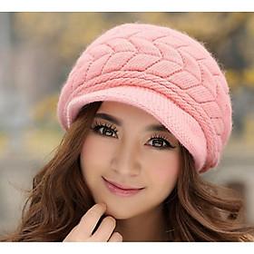 Nón len nữ, mũ len nữ mũi kết A189