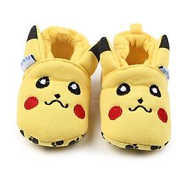 Giày Cho Trẻ Sơ Sinh Đế Mềm Hình Pikachu