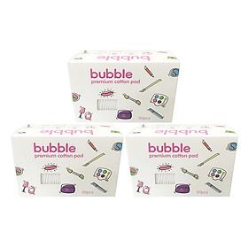 Combo 3 hộp bông tẩy trang Bubble 80M - B01