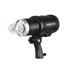 Bộ Đèn Flash Ngoài Trời Pin Li-ion Có Thể Sạc Lại Kèm Phụ Kiện TRIOPO Oubao F1-600 Đen Cho Máy Ảnh Canon Nikon (600W) (3200mAh)