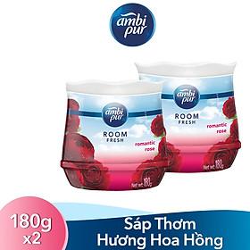 Bộ Đôi Sáp Thơm Ambi Pur Hương Hoa Hồng Thơm Ngát (180gx2)