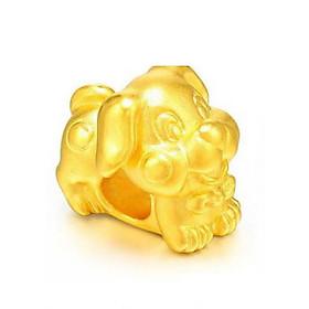 Charm Vàng 24K 12 Con giáp - Tuất Ancarat - Tặng kèm vòng tay Handmad