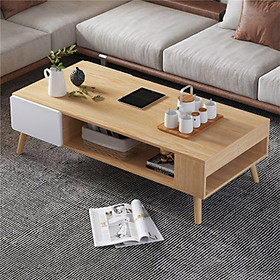 Bàn trà gỗ hiện đại 1m2 - Bàn trà phòng khách