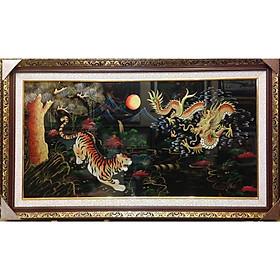Tranh sơn mài , Long Hổ Tương Phùng - SM244