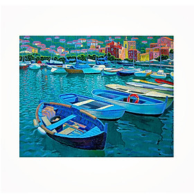DIY 5D Diamond Painting 7224 Boat in the River 30X25 Full Drill Crystal Rhinestone Embroidery Paintings Arts Craft for