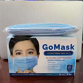 Khẩu trang y tế Kháng Khuẩn 4 lớp Go Mask. Đầy đủ giấy tờ, có thể dùng trong nha khoa, thẩm mỹ, nơi công cộng. An toàn, tiện lợi mọi lúc mọi nơi. Size người lớn.