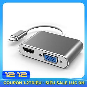 Cáp chuyển đổi USB Type C sang HDMI và VGA (USB C to HDMI , VGA)