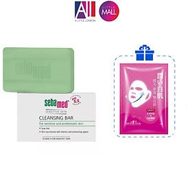 Thanh làm sạch sâu Sebamed pH 5.5 Cleansing Bar TẶNG mặt nạ Sexylook (Nhập khẩu)