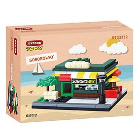 Đồ chơi lắp ráp - Chính hãng Hàn Quốc - Cửa Càng Đồ Ăn Nhanh Oxford ST33332 -  gồm 116 mảnh ghép dành cho bé 6 tuổi trở lên