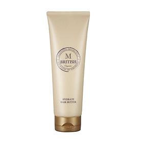 Kem ủ tóc cao cấp BRITISH M HYDRATE HAIR BUTTER phục hồi tóc hư tổn cho tóc khỏe, suôn mượt 250g