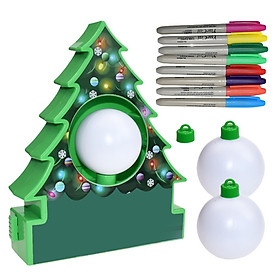 Siaonvr Electric Drawing Ball Christmas Tree DIY Toy Gift Painting Game for Children