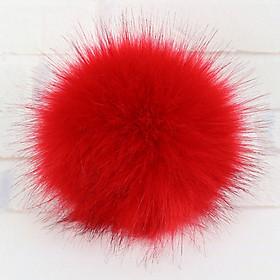 Fur Pom Hat Accessories Women Multicolor W/Snap Button Winter Outdoor