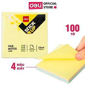 Giấy note nhớ Deli 100 tờ - 76×76mm - 4 màu trong 1 tệp - EA01603