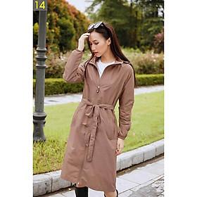Áo gió nữ dáng Mangto- Hàng cao cấp, dài tới gối ,vải gió xước, chống thấm, chống mốc, cản bụi, giữ nhiệt, thời trang, sang trọng.