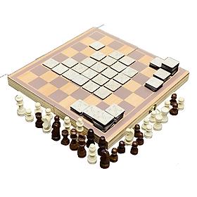 Bộ Đồ Chơi Cờ Caro Kết Hợp Cờ Vua Chơi Trên Một Bàn Cờ Kiêm Hộp Đựng Bằng Gỗ Board Game Hay Nhất Mọi Thời Đại