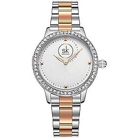 Women Easy Reader Date Expansion Watch Ladies Quartz Clock Female Bracelet Quartz Wrist Watch