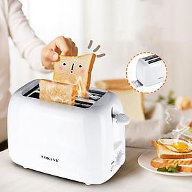 Máy Nướng Bánh Mì 2 Ngăn , máy nướng bánh mì sandwich- sokany-700w Hàng chính hãng
