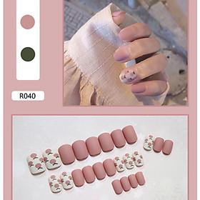 Bộ 24 móng tay giả nail thơi trang (như hình-R-040)