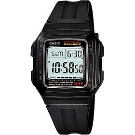 Đồng hồ unisex dây nhựa Casio F-201WA-1ADF