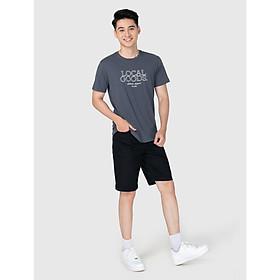 Áo phông nam cotton USA in chữ thời trang CANIFA - 8TS21S006