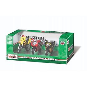 Mô hình MAISTO bộ 3 xe mô tô 1:18 Suzuki SUZUKI/MT32039