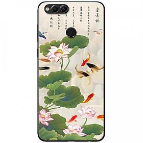 Ốp lưng dành cho Honor 7X mẫu Hoa sen cá