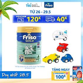 Sữa Bột Friso Gold 4 Cho Trẻ Từ 2-4 Tuổi 900g + Tặng bộ 4 xe đồ chơi (mẫu ngẫu nhiên)