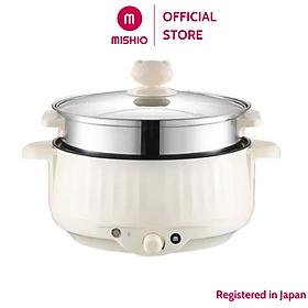 Nồi lẩu điện 4.0L Mishio MK275 kèm xửng hấp inox - Hàng chính hãng