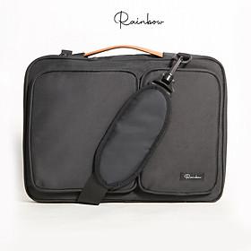 Túi chống sốc Laptop, túi macbook 14inch -15.6 inch Rainbow BG001 chất liệu Canvas chống thấm, lót mút + nhung chống va đập bảo vệ thân máy